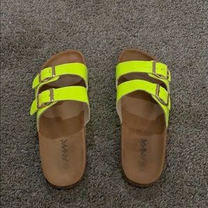 Lime green sandals